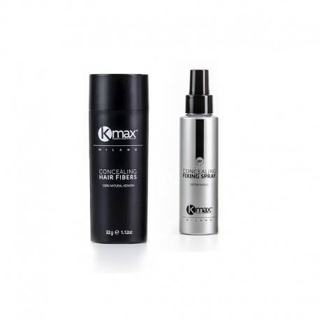 Kmax 27,5g - Zagęszczanie Włosów + Lakier do utrwalania mikrowłókien